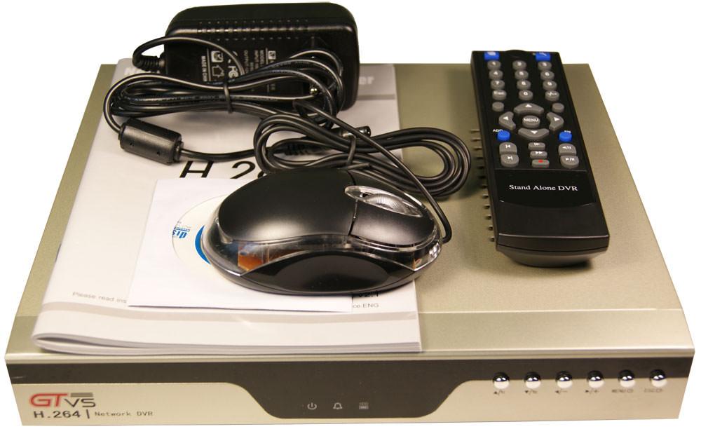 Комплектация цифрового регистратора для видеонаблюдения дома GTR-44RT