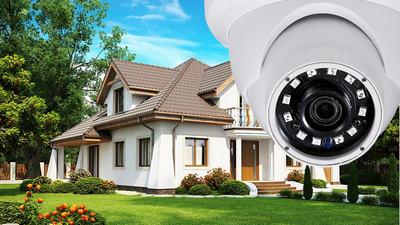 Установка видеонаблюдения для дома